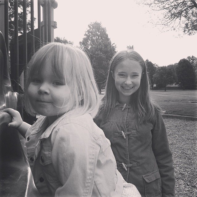 Cousins!  My heart is so very happy to be at the park with these special ladies.