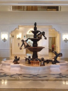 Mary Poppins themed fountain at The Villas at Disney's Grand Floridian Resort and Spa. Photo courtesy of Kate Melody.