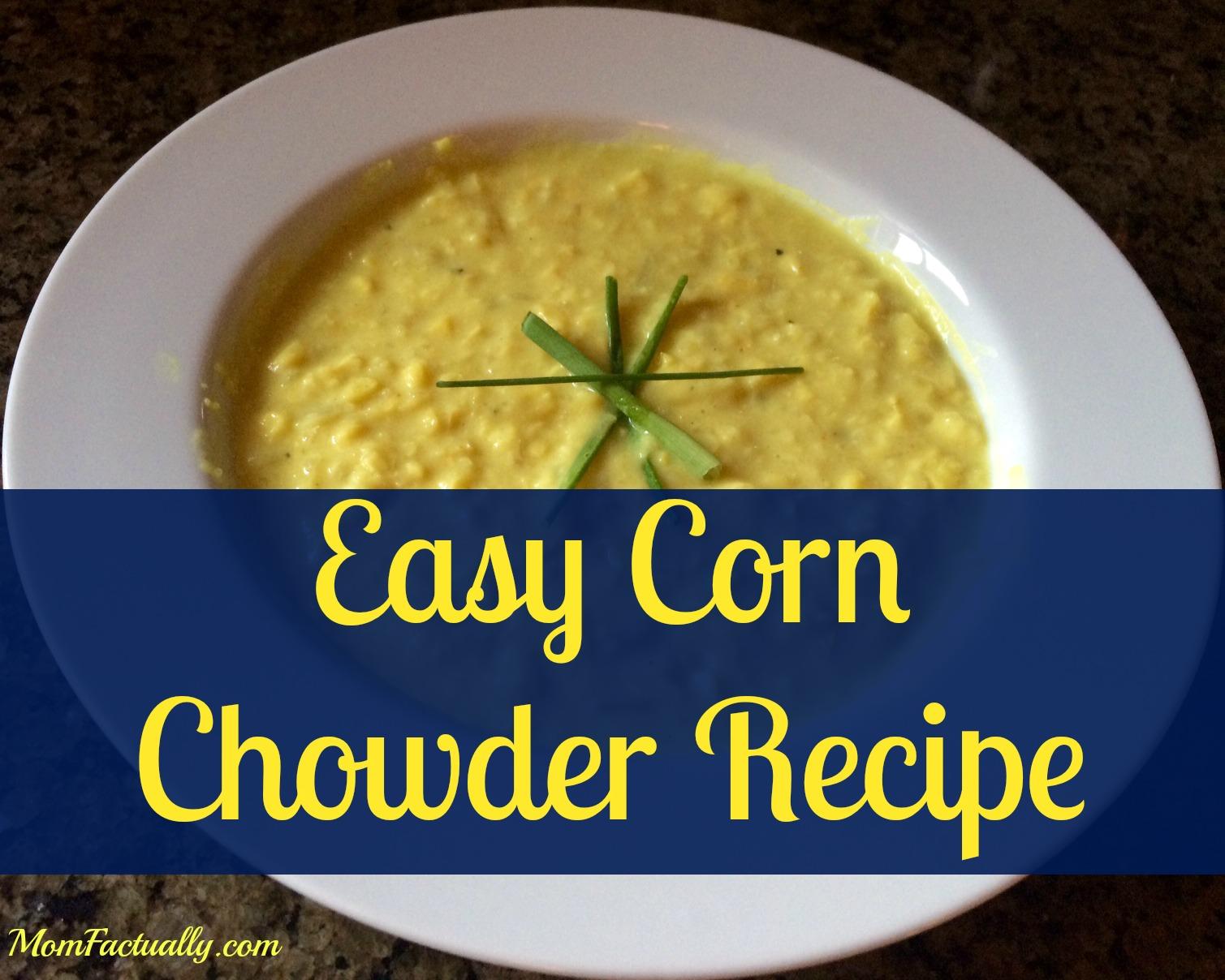 Easy chipotle corn chowder recipe