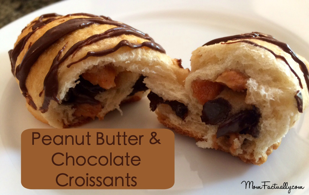 Chocolate and Peanut Butter Croissant Recipe with Crescent Rolls - Mom ...